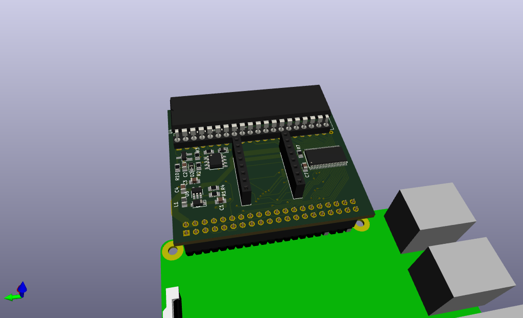 3D rendering of the current design, EPROM displayed without quartz window